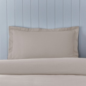 Soft & Cosy Brushed Cotton Natural Oxford Pillowcase