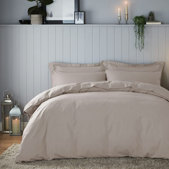 Soft & Cosy Brushed Cotton Natural Duvet Cover and Pillowcase Set  undefined
