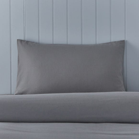 Soft & Cosy Brushed Cotton Dove Grey Housewife Pillowcase Pair