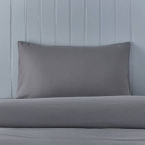 Soft & Cosy Brushed Cotton Housewife Pillowcase Pair