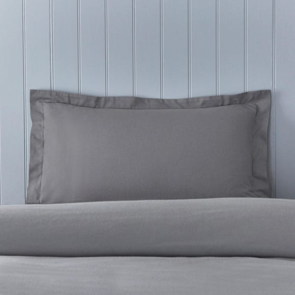 Soft & Cosy Brushed Cotton Dove Grey Oxford Pillowcase