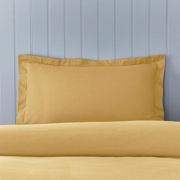 Soft & Cosy Brushed Cotton Ochre Oxford Pillowcase
