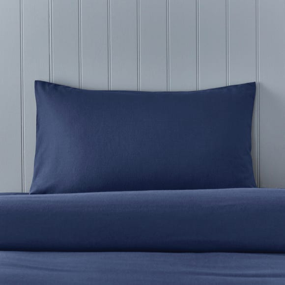 Soft & Cosy Brushed Cotton Navy Housewife Pillowcase Pair