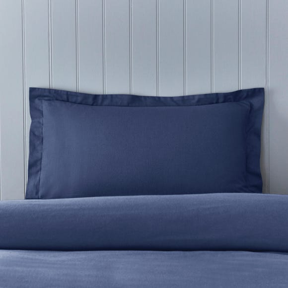 Soft & Cosy Brushed Cotton Navy Oxford Pillowcase