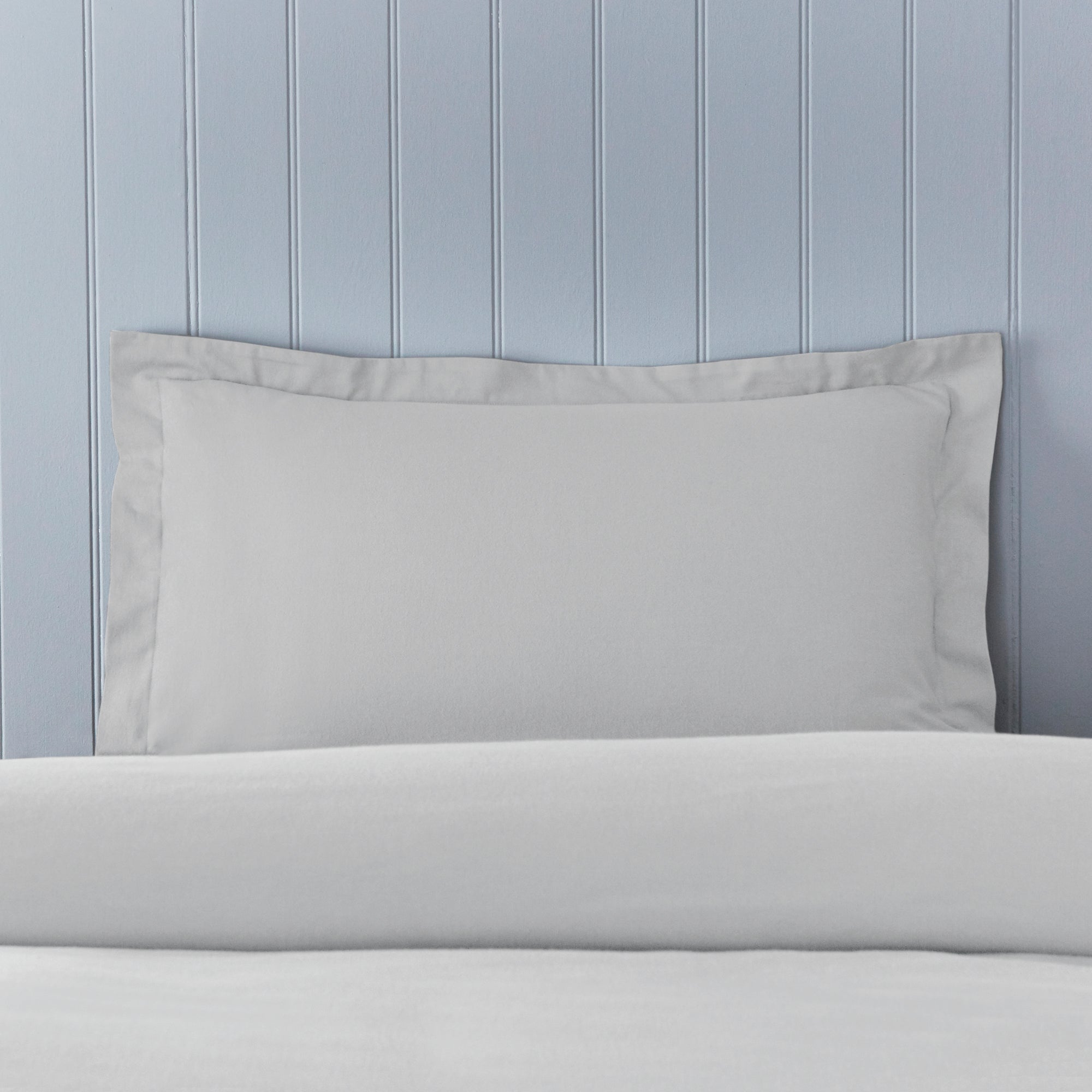 Click to view product details and reviews for Soft Cosy Brushed Cotton Silver Oxford Pillowcase Silver.