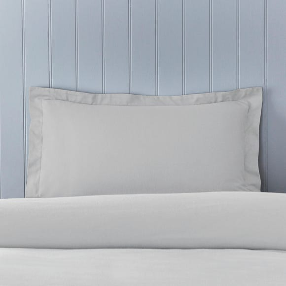 Soft & Cosy Brushed Cotton Silver Oxford Pillowcase