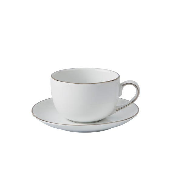 Platinum Cup and Saucer White