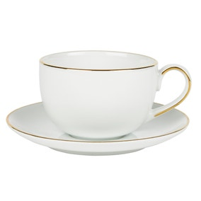 Gold Band Cup and Saucer