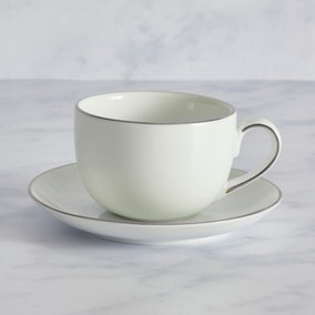 Platinum Breakfast Cup and Saucer