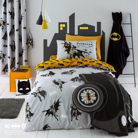 Batman Grey Reversible Glow in the Dark Duvet Cover and Pillowcase Set