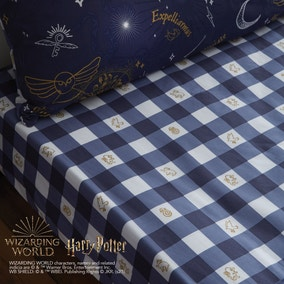 Harry Potter Hogwarts Checked Fitted Sheet