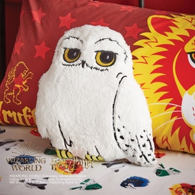 Harry Potter Hogwarts Hedwig Faux Fur Cushion
