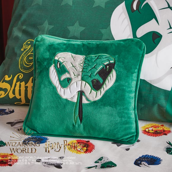 Harry Potter Slytherin Cushion MultiColoured
