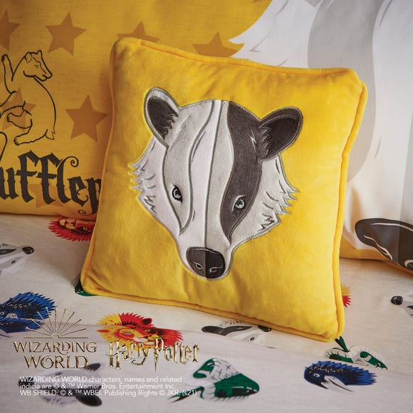 Harry Potter Hufflepuff Cushion MultiColoured