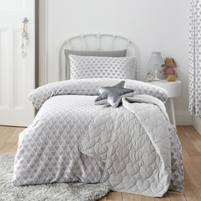 Sweetheart Silver Duvet Cover and Pillowcase Set