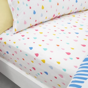 Elements Rainbow Geometric 100% Cotton Pack of 2 Fitted Sheets