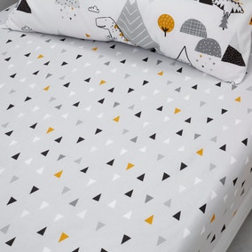 Elements Geosaurus 100% Cotton Pack of 2 Fitted Sheets