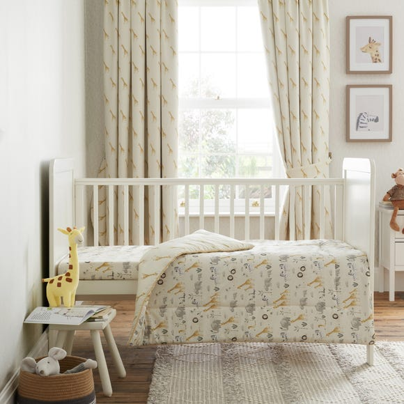 Safari Natural 100% Cotton 4 Tog Cot Quilt Natural