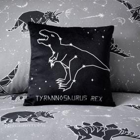 Space Dinosaur Black LED Light Up Cushion