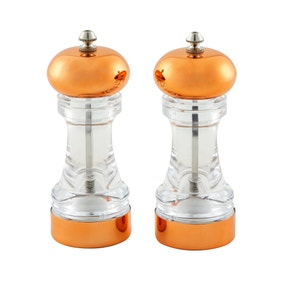 Dunelm Copper Salt and Pepper Mill Set