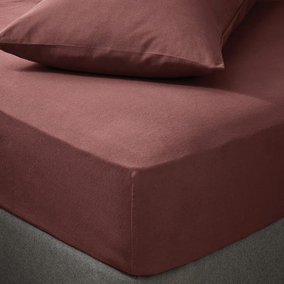 Soft & Cosy Luxury Brushed Cotton Fitted Sheet Claret undefined