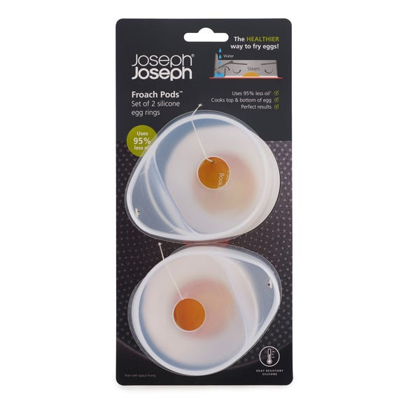 Joseph Joseph Set of 2 Egg Poaching Pods Clear