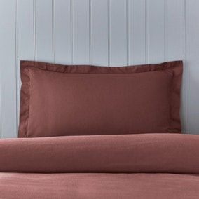 Soft & Cosy Brushed Cotton Claret Oxford Pillowcase
