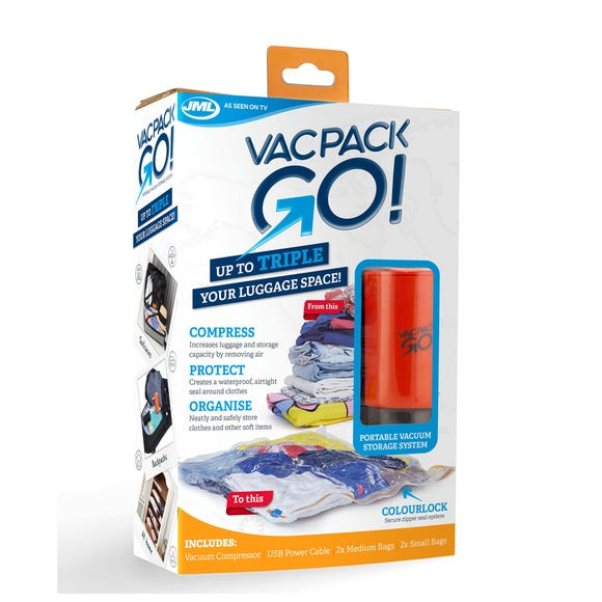 JML Vac Pack Go Vacuum Storage Bags Clear