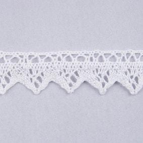 30mm White Lace Cotton