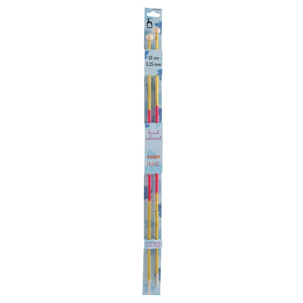 Coloured Knitting Pins 35cm x 3.25mm