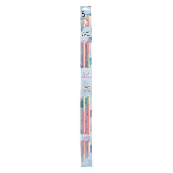 Coloured Knitting Pins 35cm x 4.5mm