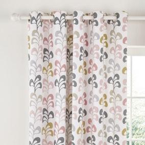 Helena Springfield Liv Blush Lined Eyelet Curtains