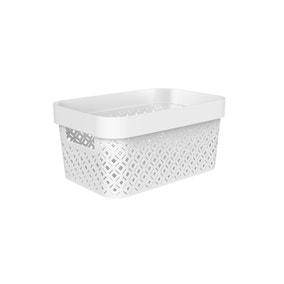 4.5L Recycled White Terrazzo Storage Basket