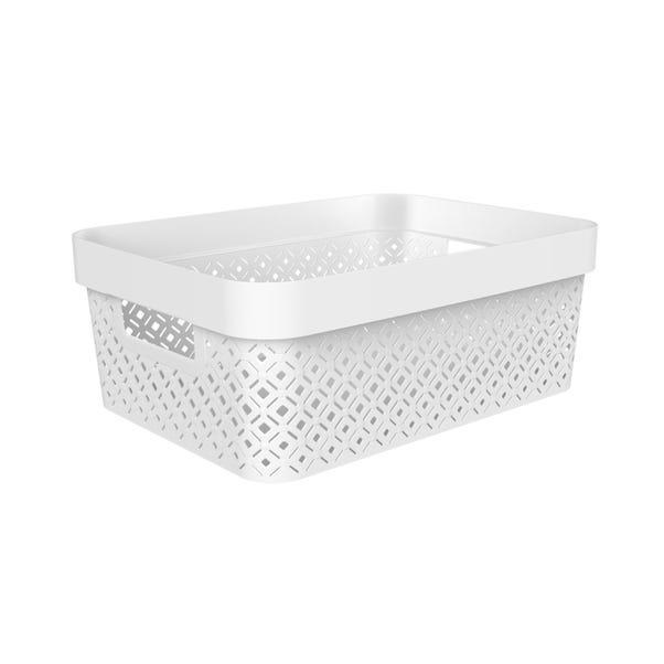 11.5L Recycled White Terrazzo Storage Basket