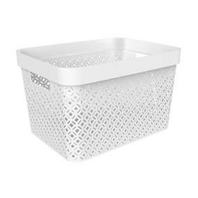 17L Recycled White Terrazzo Storage Basket