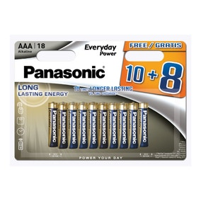 Panasonic Pack of 18 AAA Batteries