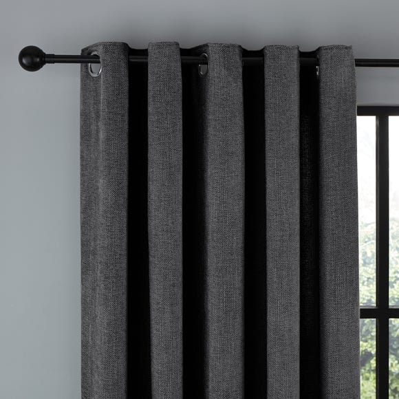 Wynter Charcoal Thermal Eyelet Curtains  undefined