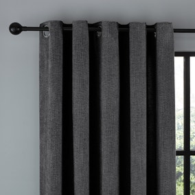 Wynter Charcoal Thermal Eyelet Curtains