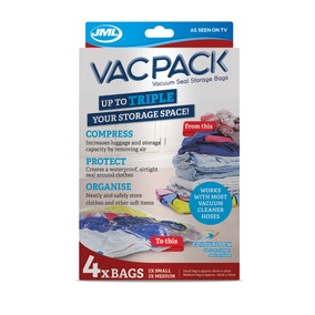JML Small and Medium Vac Pack Replacement Vacuum Storage Bags