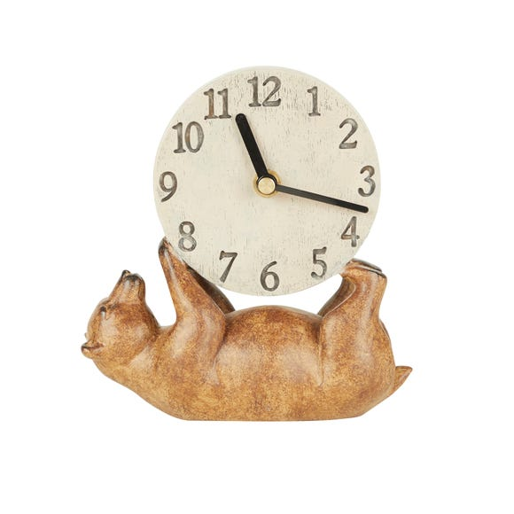 Bear Mantel Clock Brown