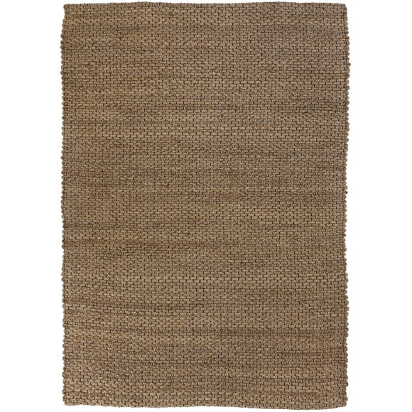 Chunky Jute Woven Rug Light Grey undefined