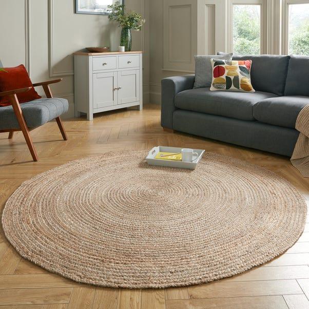 Jute Circle Rug Natural undefined