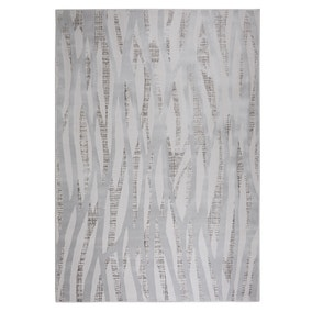 Linear Luxe Silver Rug