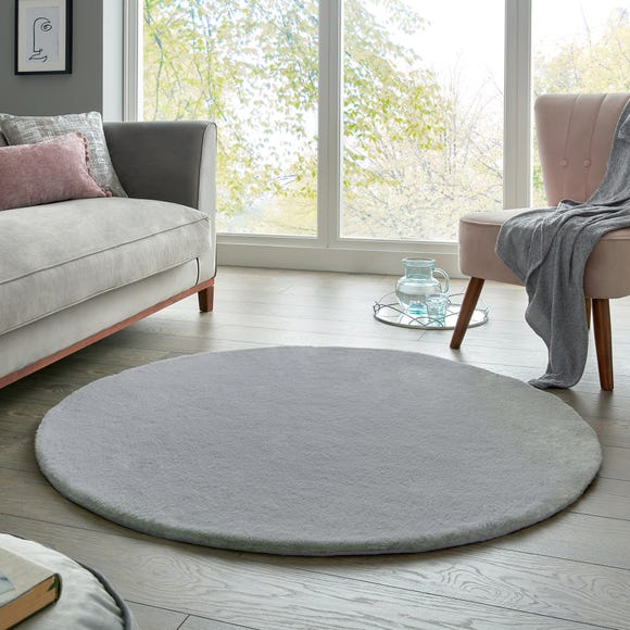 Supersoft Lush Circle Rug Supersoft Lush Grey undefined
