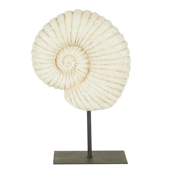 Fossil Shell on Stand Sculpture Natural
