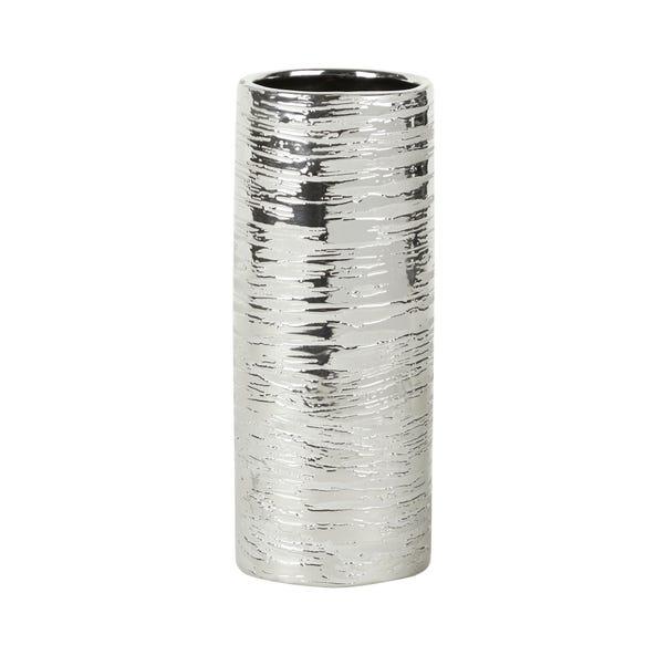 Silver Wax Resist Vase Silver