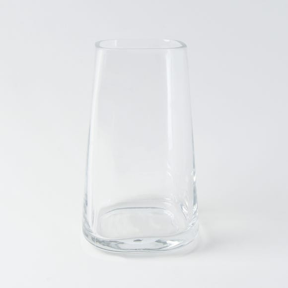 Small Tapered Glass Vase Clear
