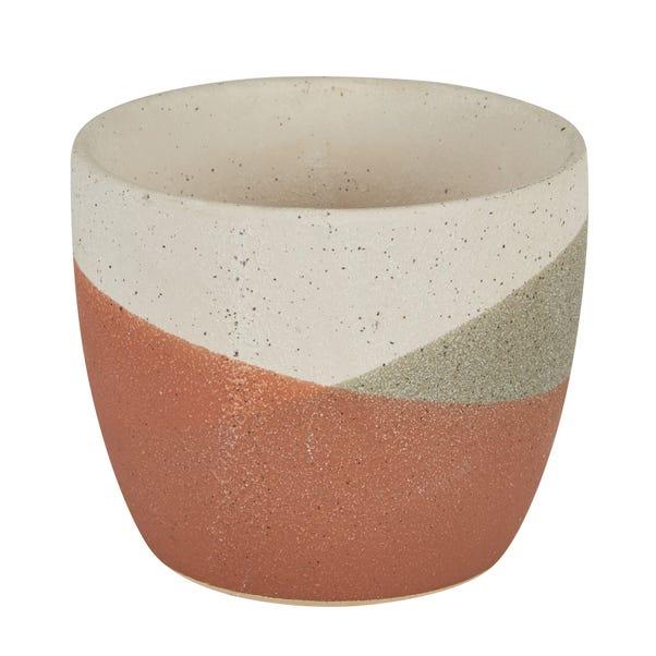 Dip Glaze Plant Pot Terracotta Red