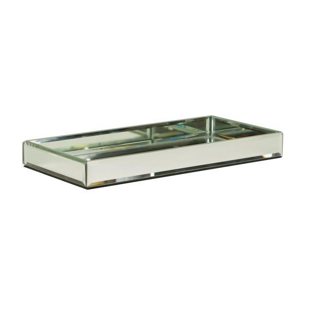 Rectangular Mirror Tray Silver
