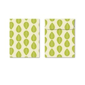 Set of 2 Vegan Wax Wraps and Sandwich Bags